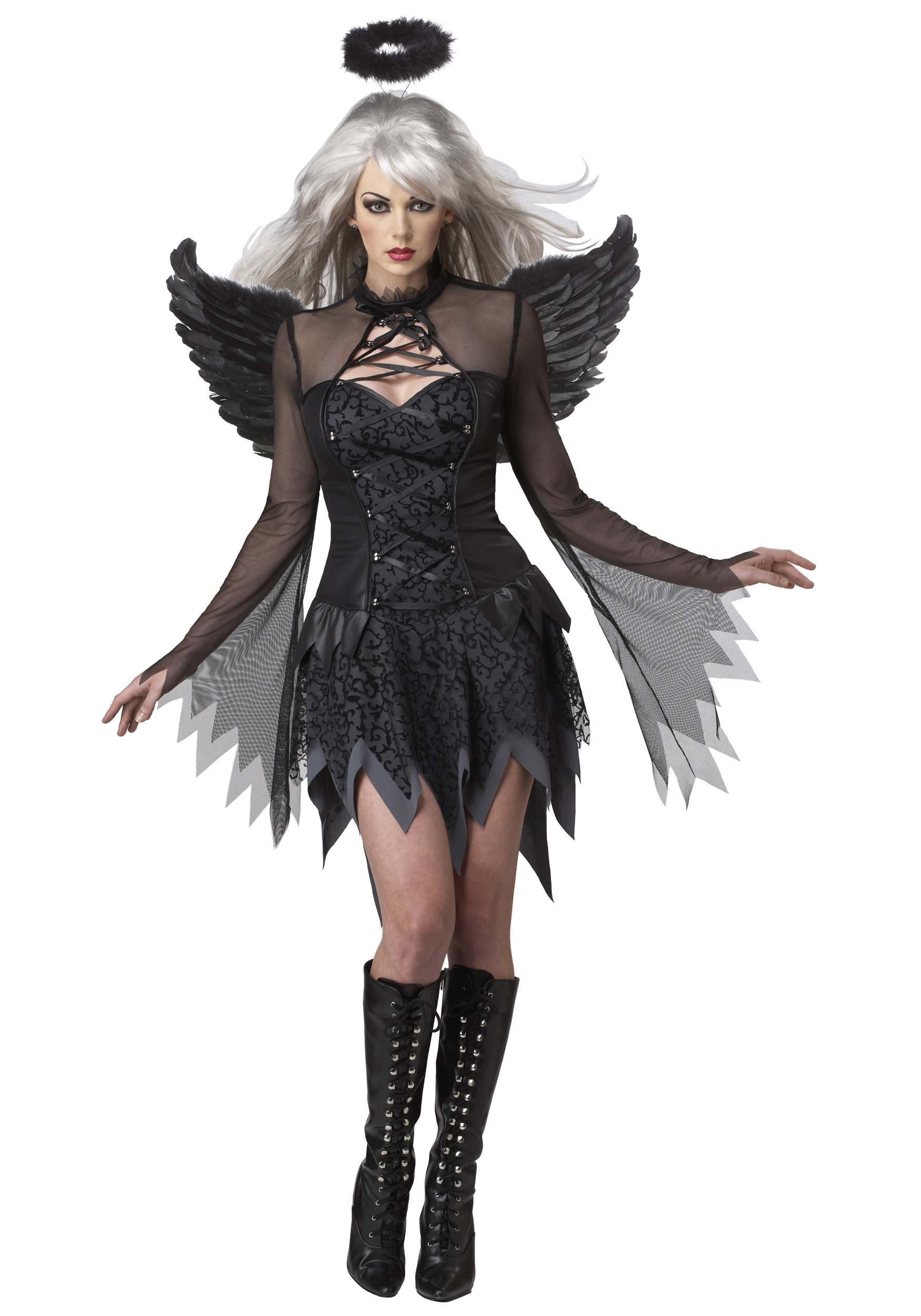 Women Sexy Halloween Costumes adult poison apple body shaper costume Sexy Fallen Angel Costume