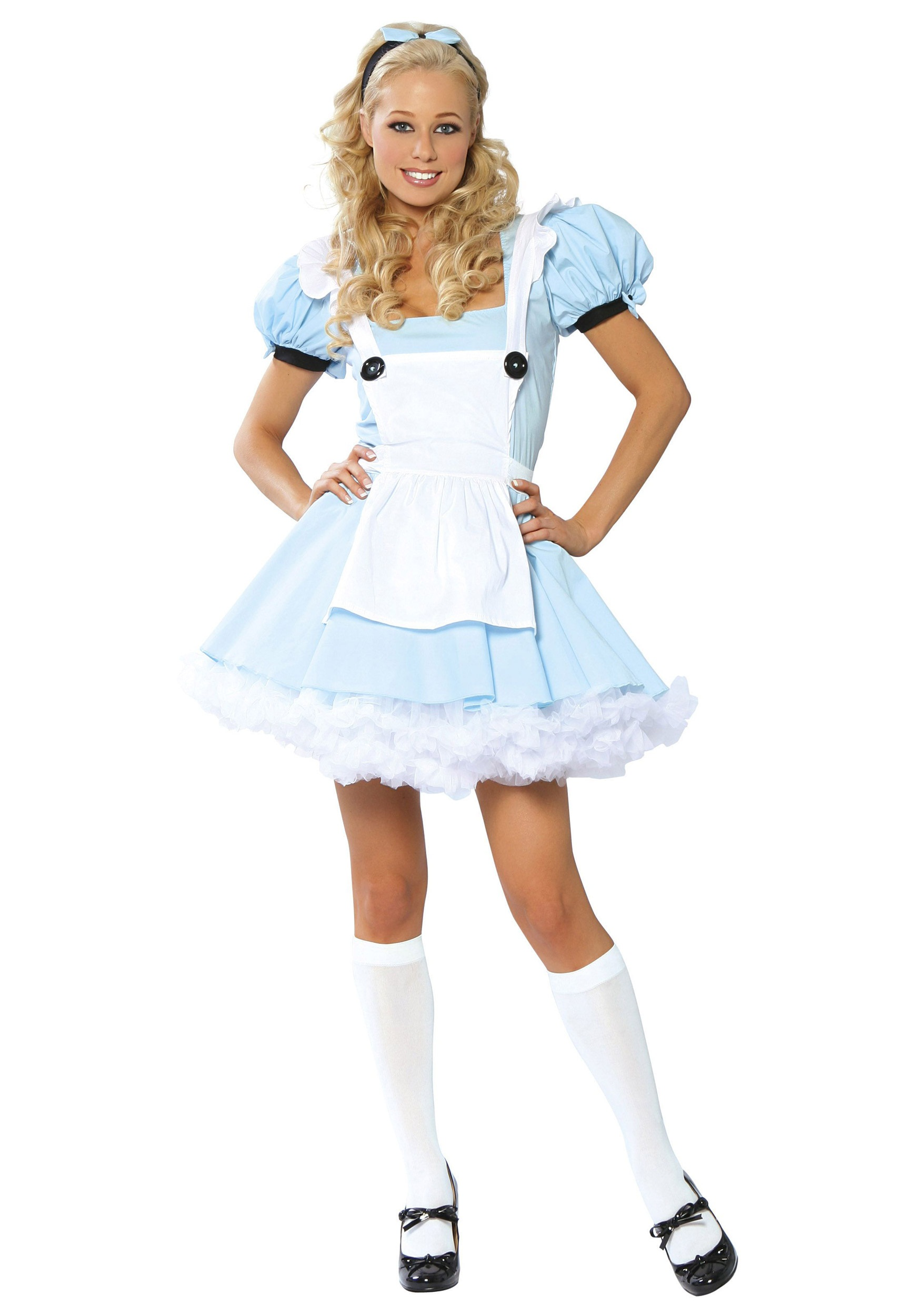Adult alice costume in wonderland