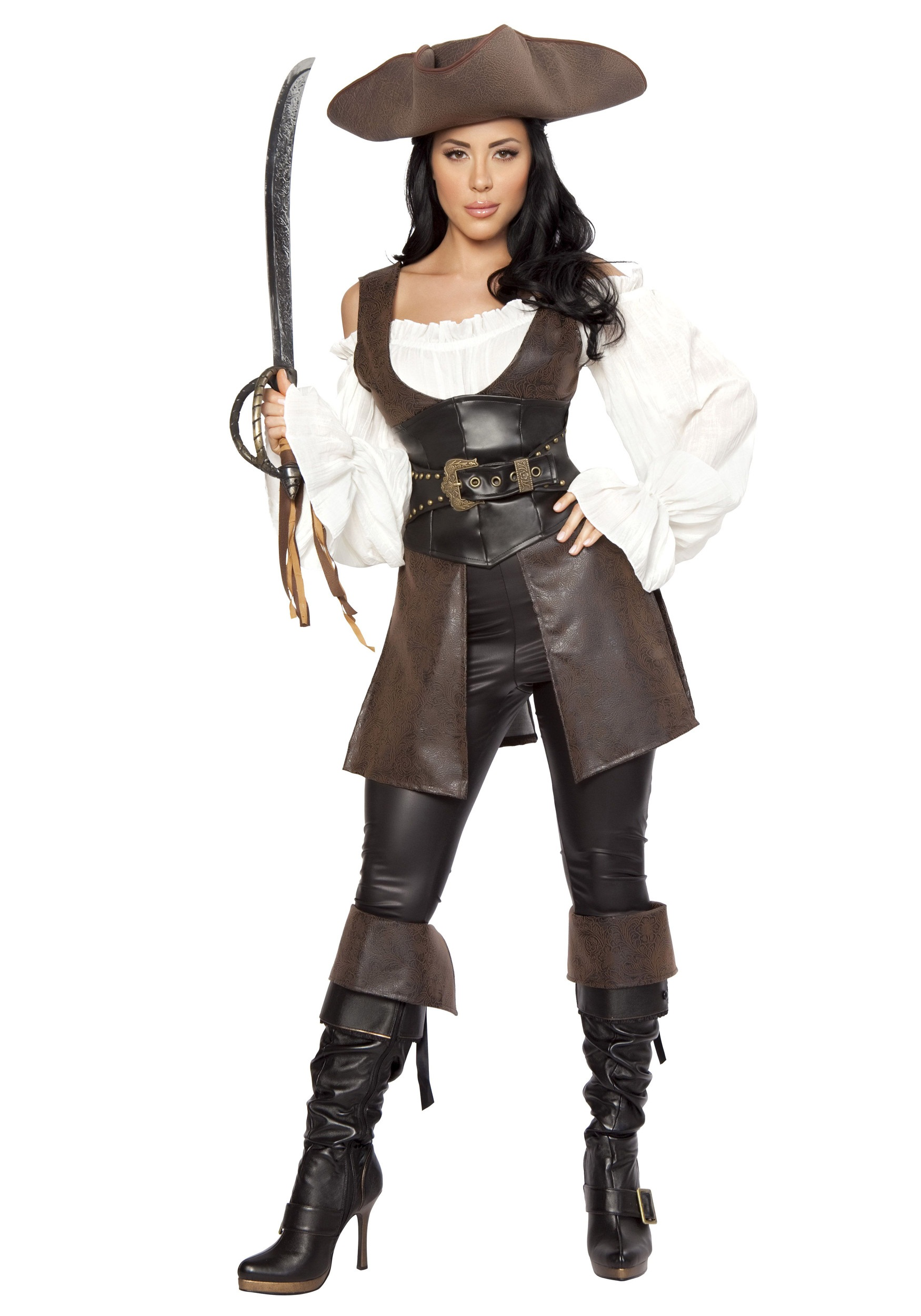 women 39 s deluxe swashbuckler costume. Black Bedroom Furniture Sets. Home Design Ideas