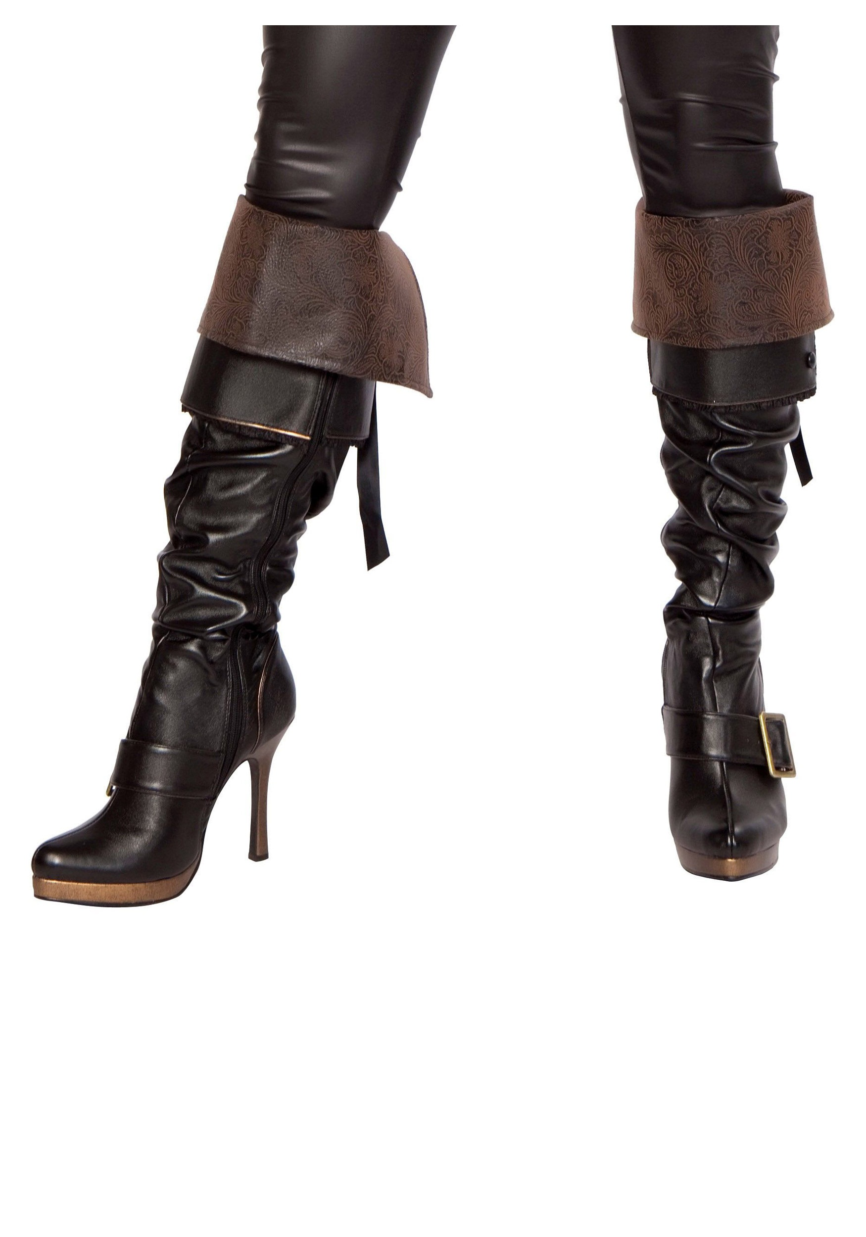 New Select The Fabric For The Book Cuffs Mens Pirate Boots Look Best With Black Leather, Vinyl Or Felt, While Women Pirates Can Add Colorful, Fancy Satin Or Silk Cuffs To Dress Up The Tops Of The Boots Measure Around The Top Of The Boot And Add 2