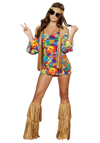 Click Here to buy Plus Size Womens Hippie Hottie Costume 2X from HalloweenCostumes, CDN Funds