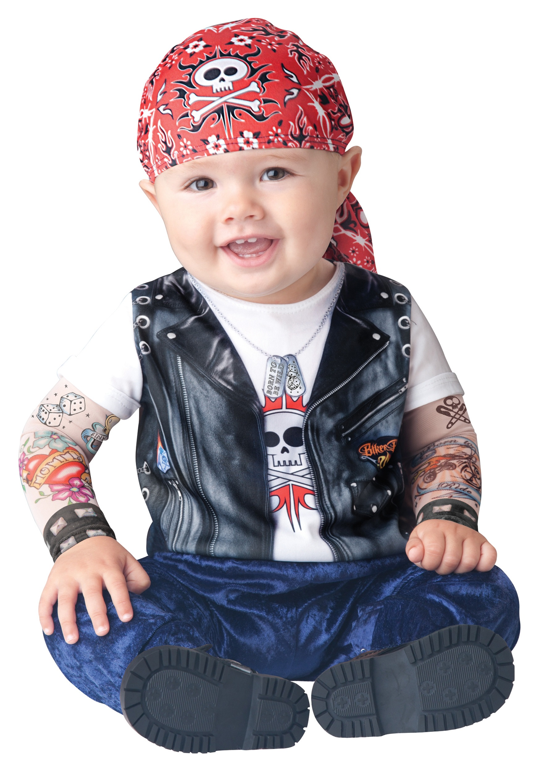 baby born to be wild biker costume. Black Bedroom Furniture Sets. Home Design Ideas