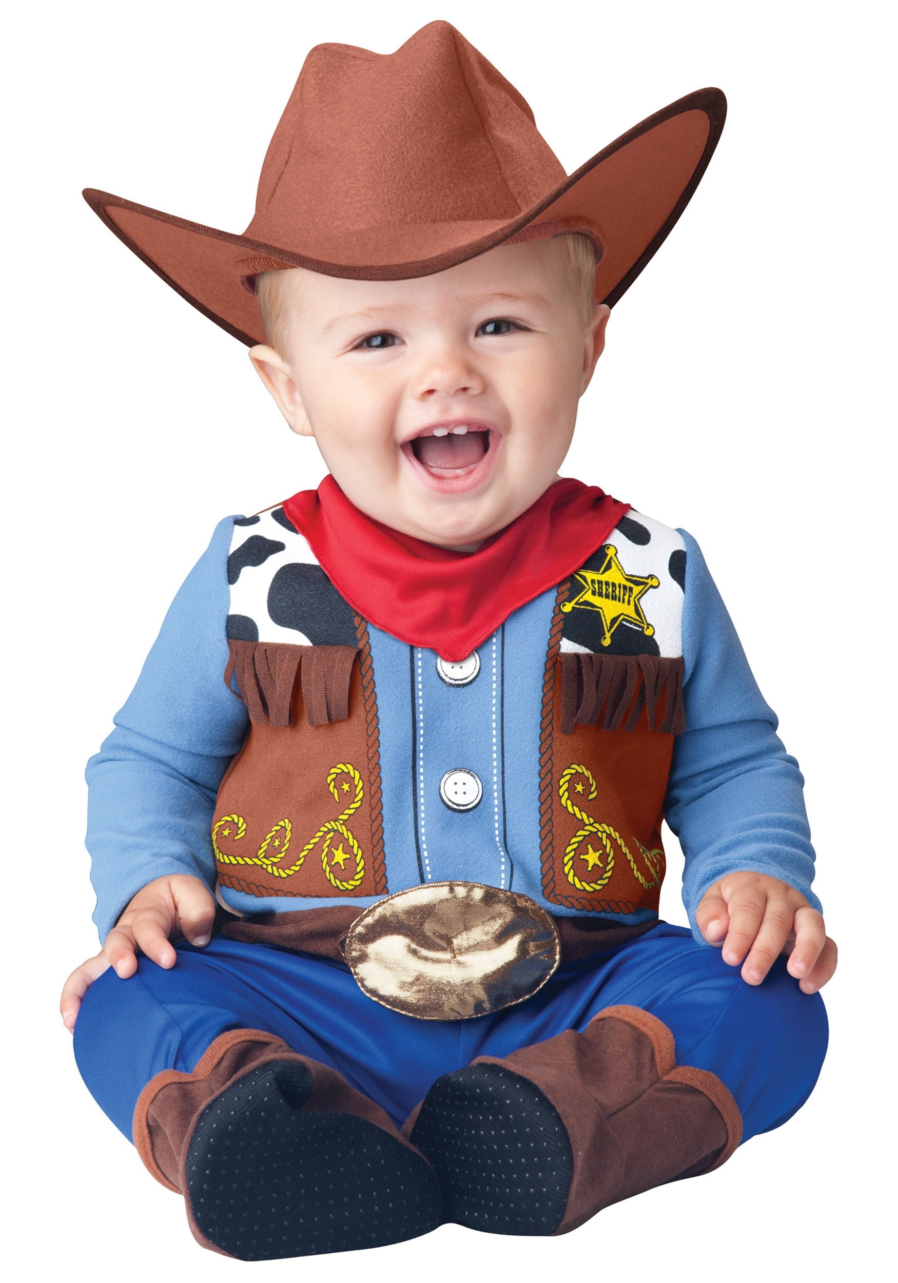 Western cowboy cowgirl costumes halloweencostumes wee wrangler cowboy costume solutioingenieria Choice Image