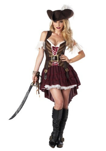 Plus Sexy Swashbuckler Captain Costume   Plus Size Pirate Costumes