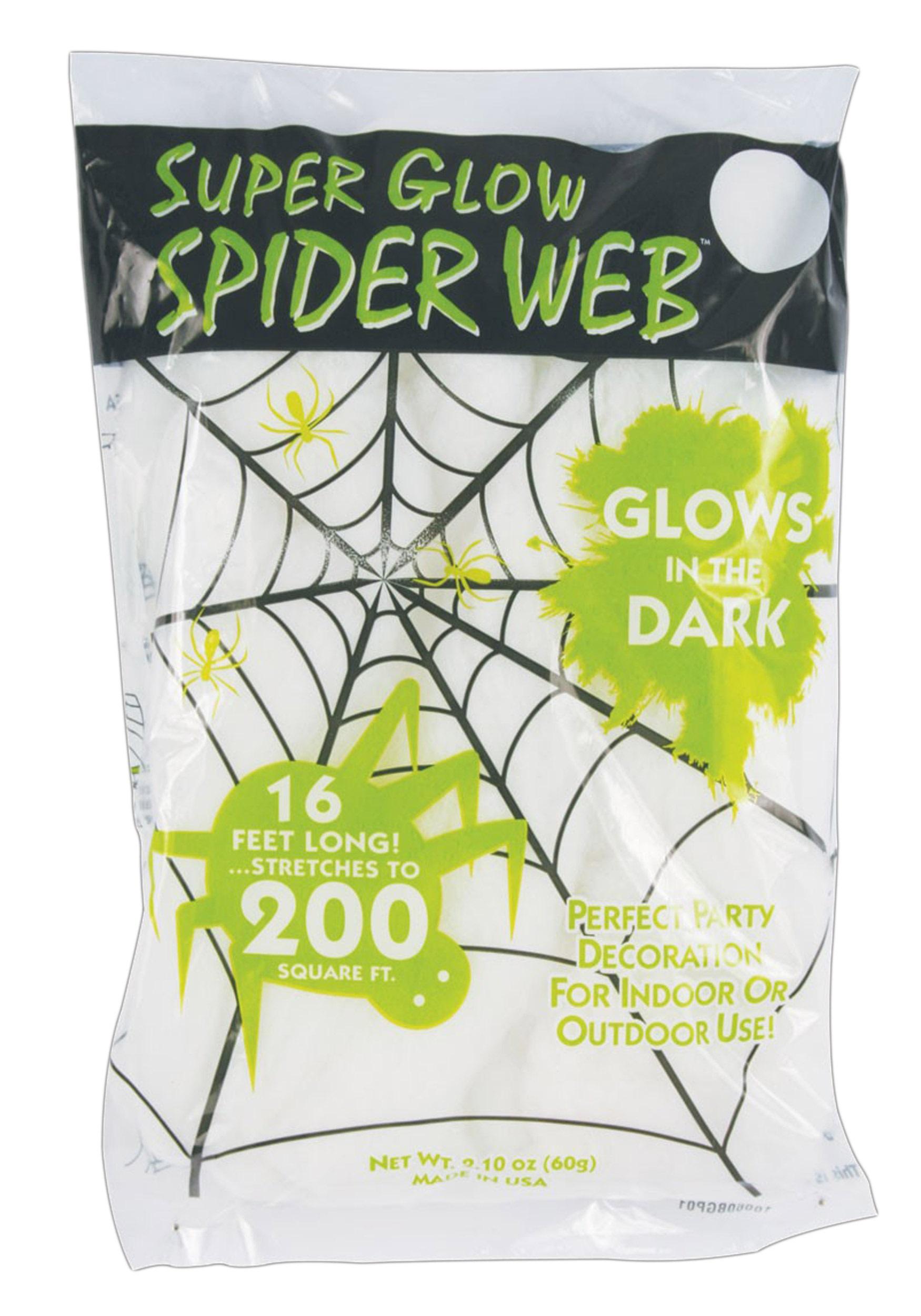 glow in the dark spider webs - Spider Web Decoration