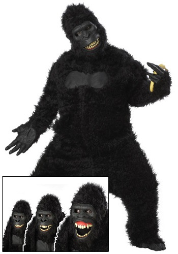 Click Here to buy Adult Goin Ape Gorilla Costume from HalloweenCostumes, CDN Funds