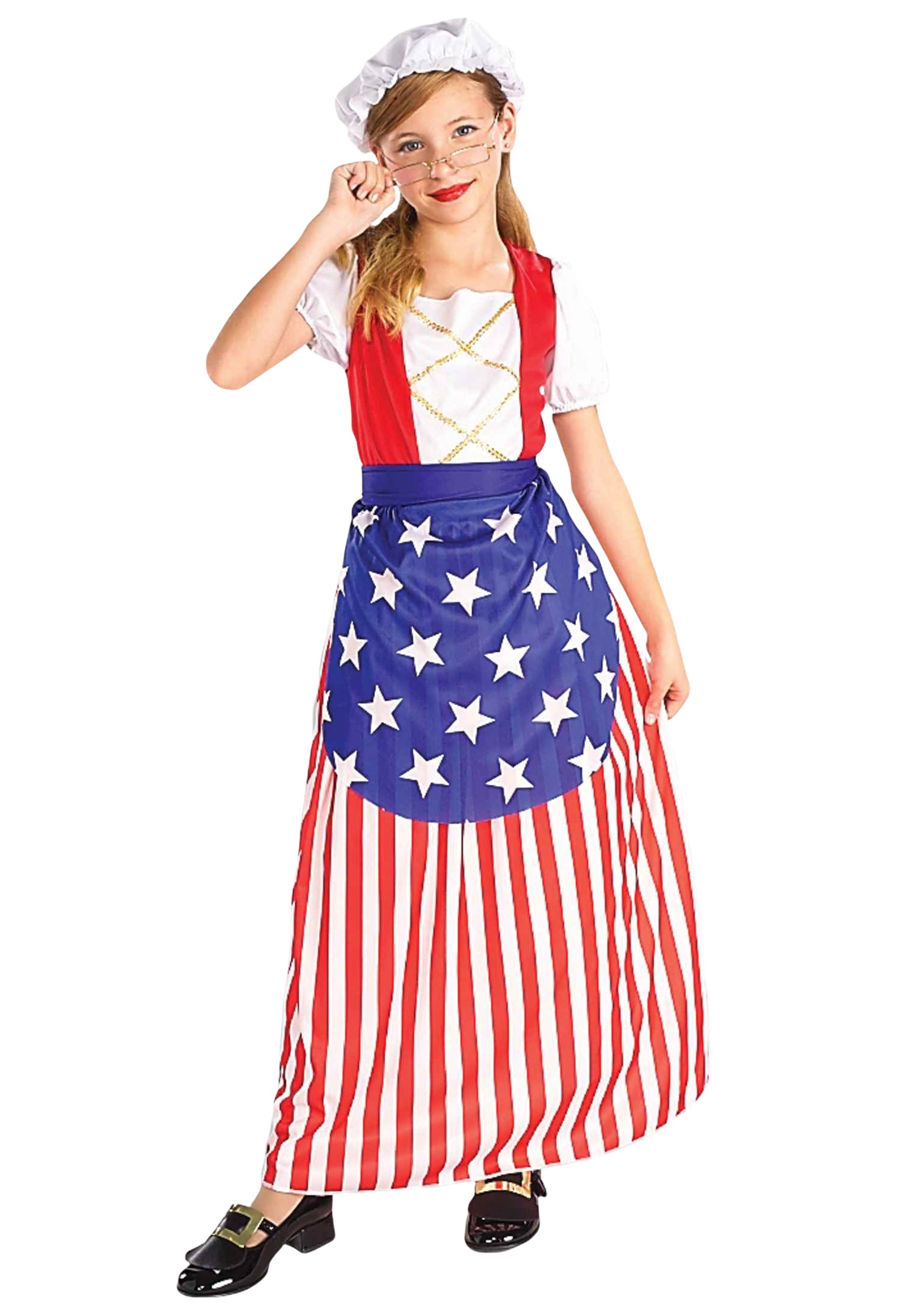 sc 1 st  Halloween Costumes & Girls Betsy Ross Costume