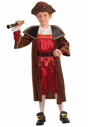 Click Here to buy Kids Christopher Columbus Costume from HalloweenCostumes, USA Funds & Shipping