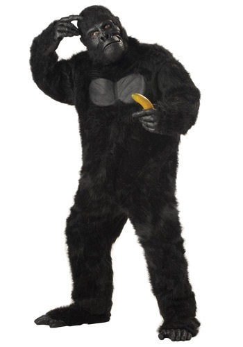 Click Here to buy Realistic Plus Size Gorilla Suit Costume from HalloweenCostumes, CDN Funds