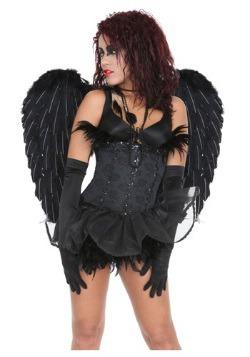 Black Heavenly Angel Wings