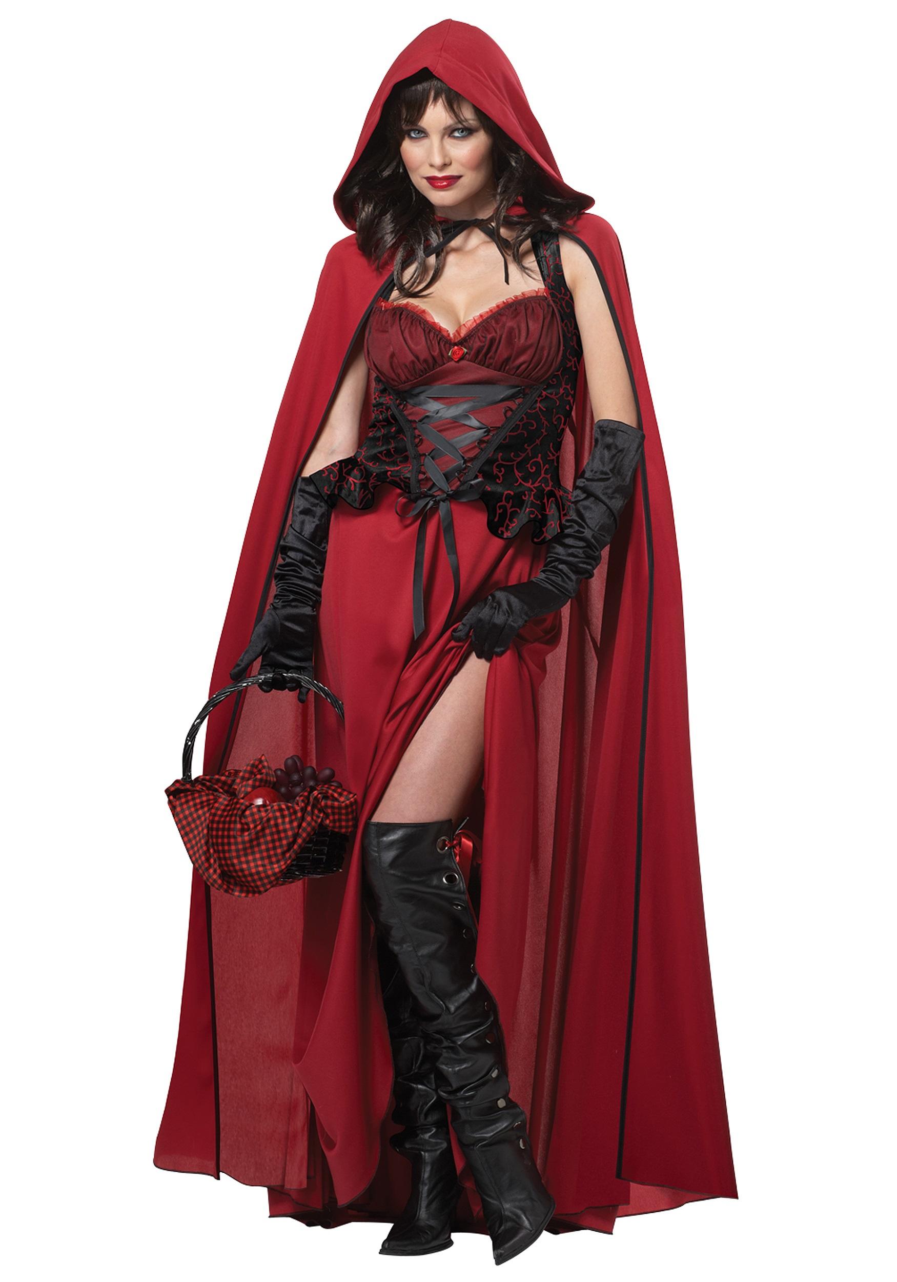 Womens Dark Red Riding Hood Costume 77adfe2713
