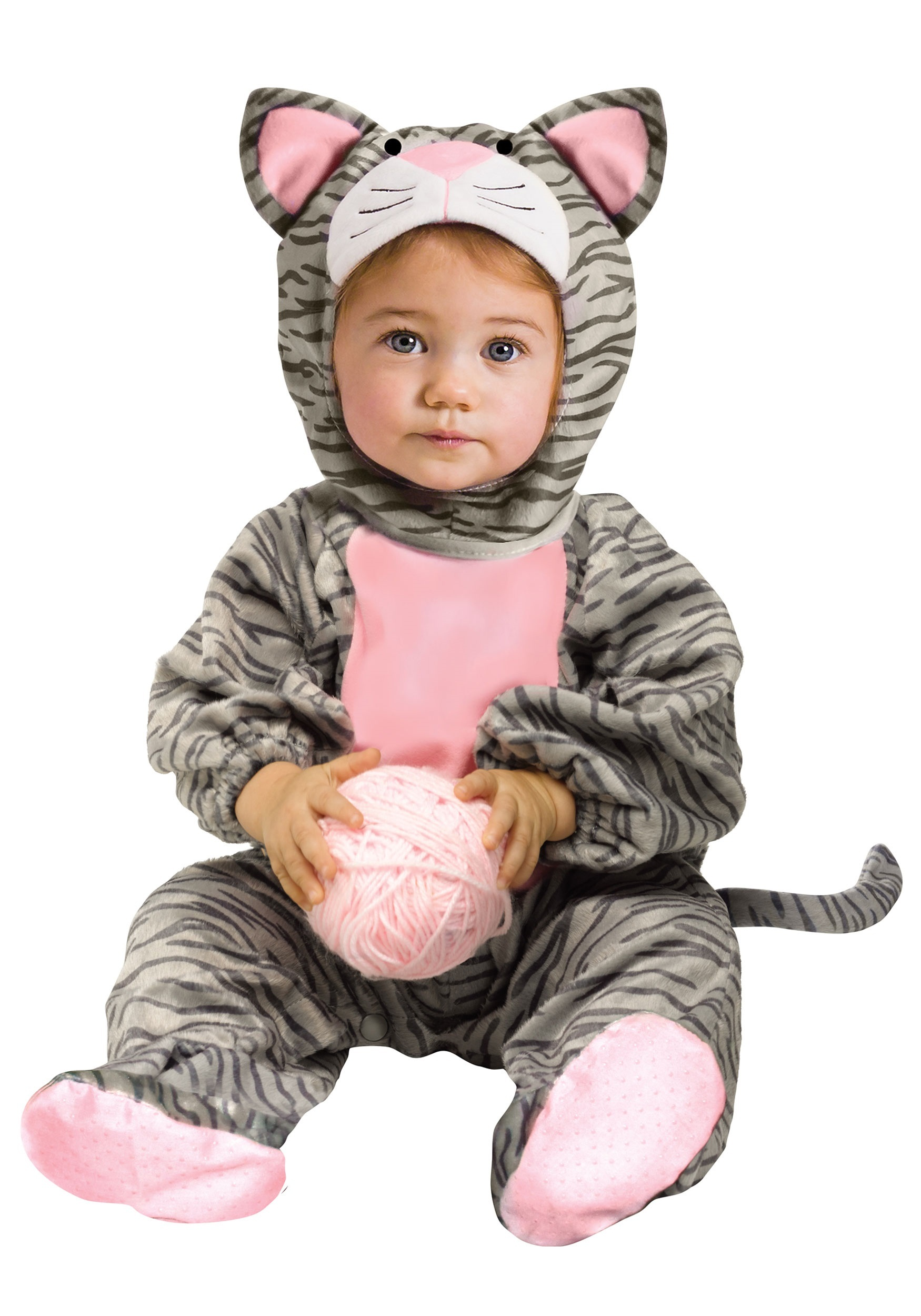 Toddler Striped Gray Kitten Costume  sc 1 st  Halloween Costumes & Newborn u0026 Baby Halloween Costumes