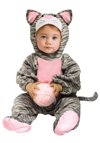 Striped Gray Kitten Costume for Toddlers