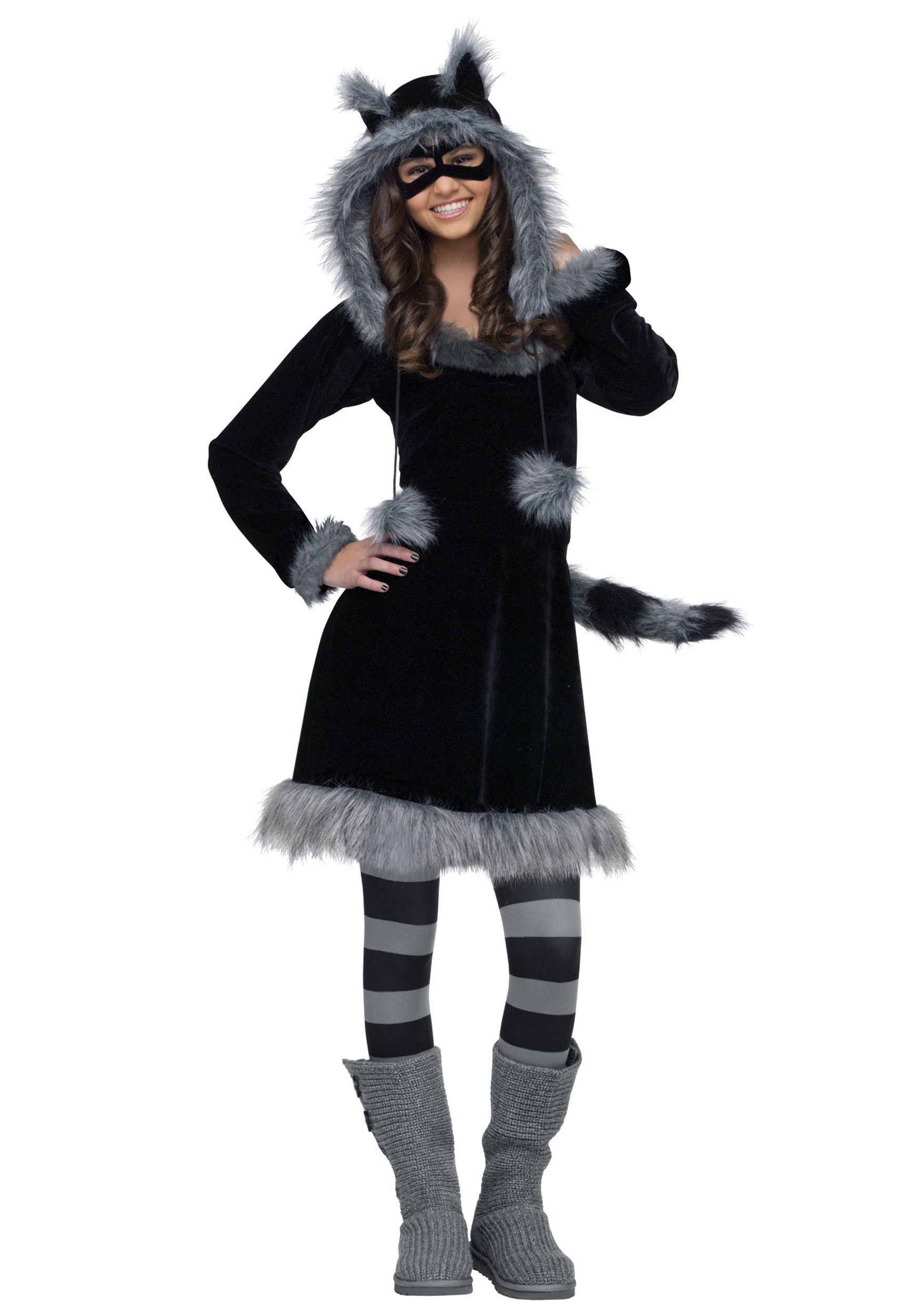 Teen sweet raccoon costume