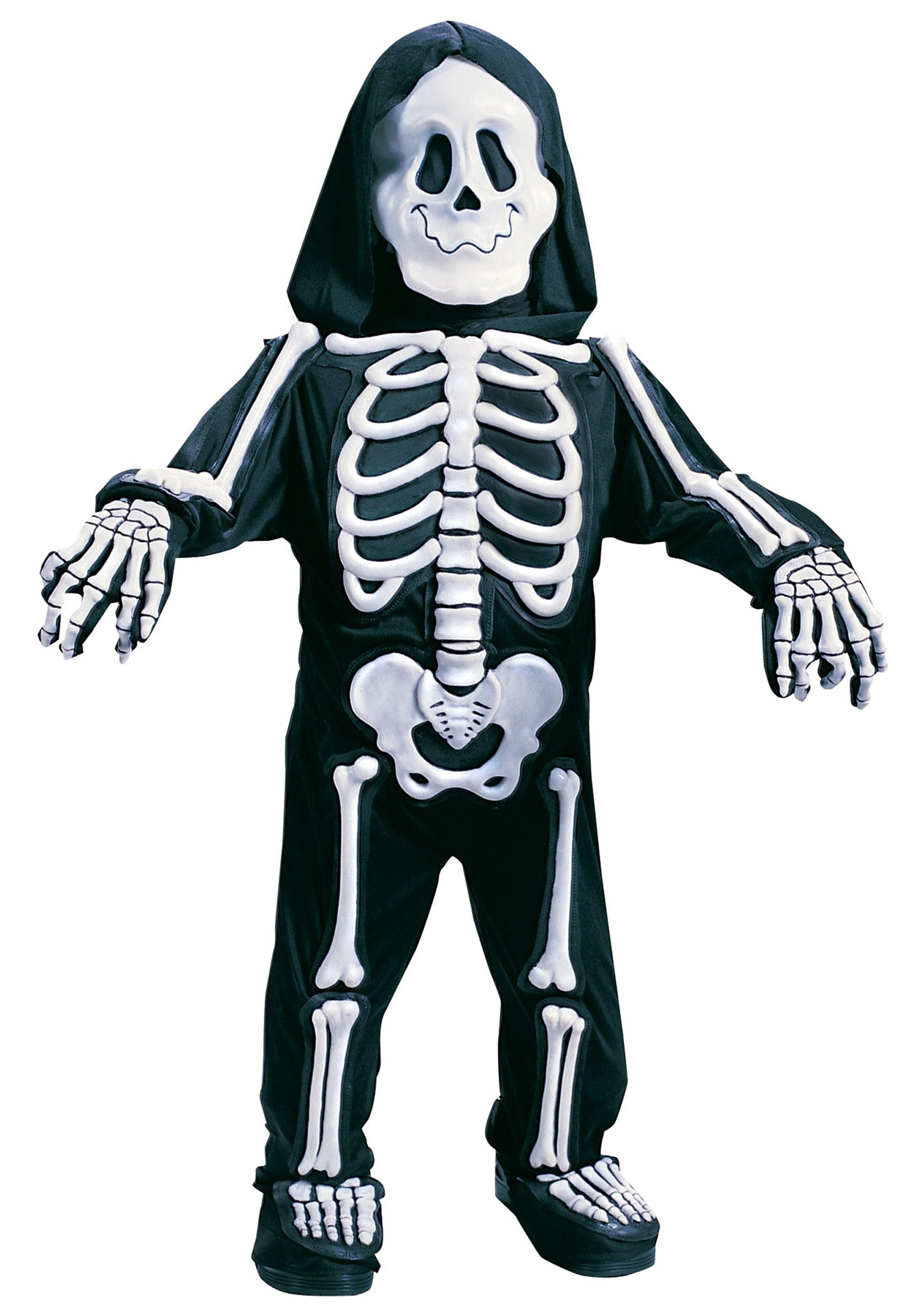 d6dbbf2d63 Child White Skeleton Costume