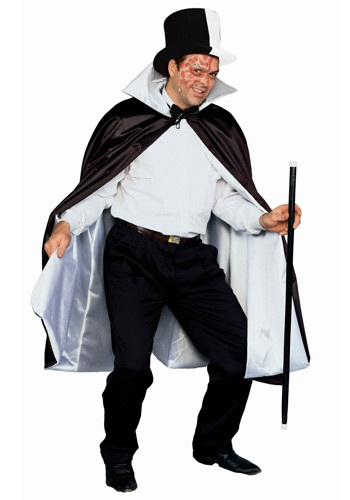 Phantom Black and White Cape By: Forum Novelties, Inc for the 2015 Costume season.
