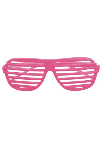 Neon Pink 80s Shades By: Forum Novelties, Inc for the 2015 Costume season.