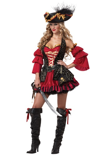 Sexy Plus Spanish Pirate Costume - Plus Size Pirate Costumes