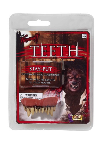 Click Here to buy Werewolf Teeth from HalloweenCostumes, USA Funds & Shipping