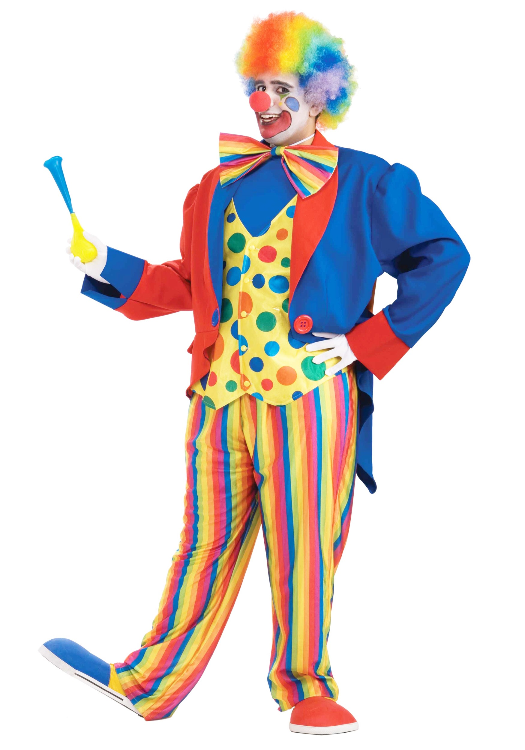 Plus size mens clown costume for Disfraces de circo