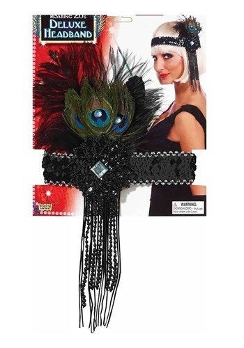 Deluxe Peacock Flapper Headband