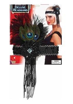 Deluxe Peacock Flapper Headband Update