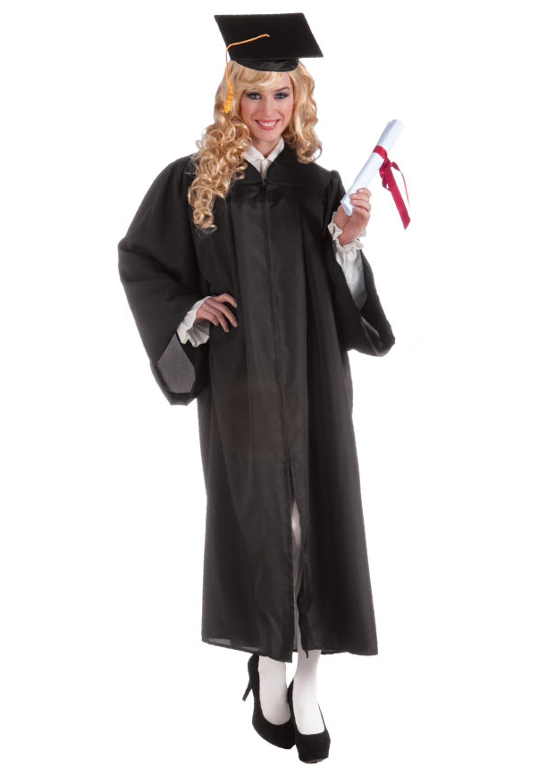 sc 1 st  Halloween Costumes & Adult Black Graduation Robe