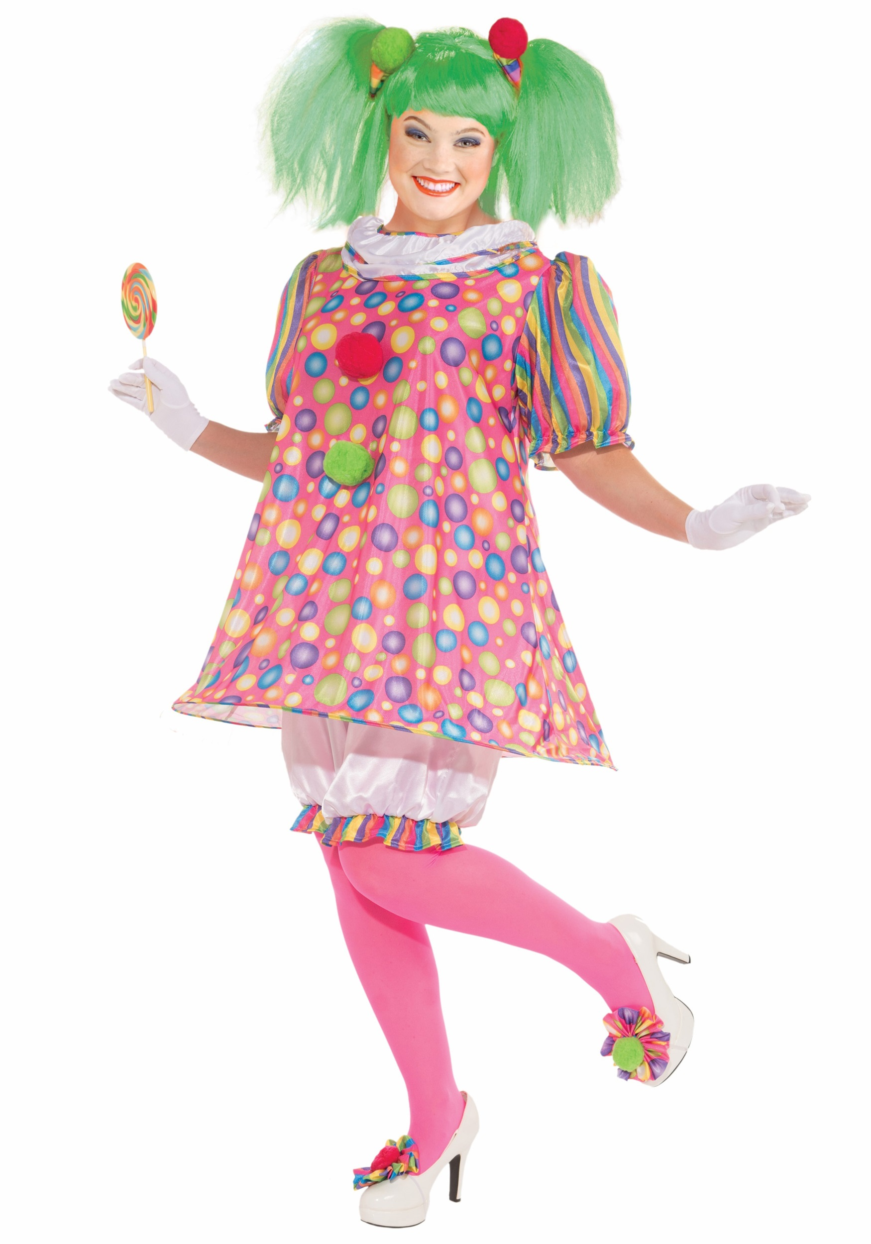 Clown plus size adult costume
