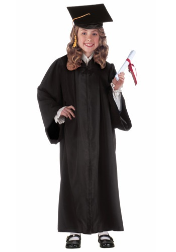 Child Black Graduation Robe By: Forum Novelties, Inc for the 2015 Costume season.