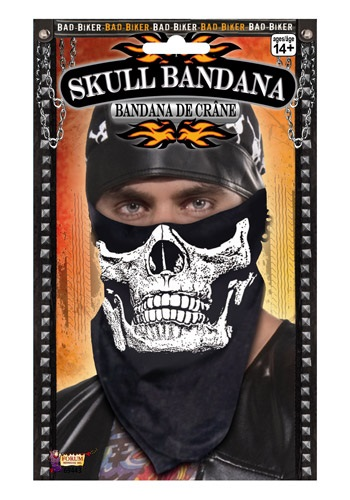 Skull Face Biker Bandana By: Forum Novelties, Inc for the 2015 Costume season.