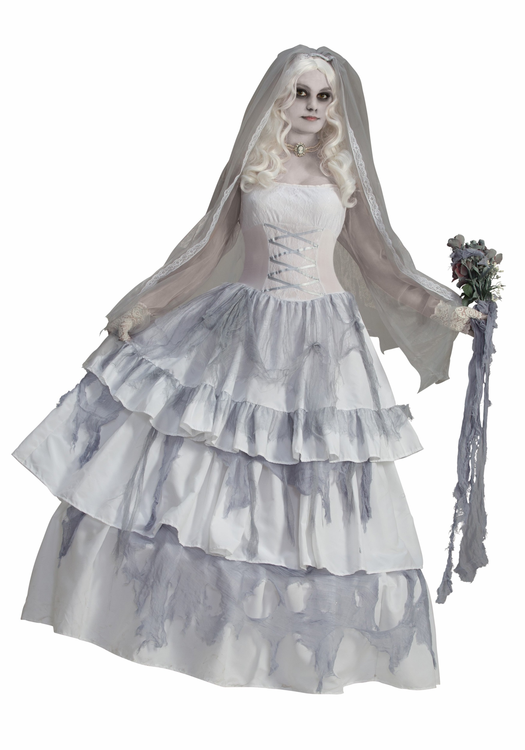 sc 1 st  Halloween Costumes & Victorian Ghost Bride Costume