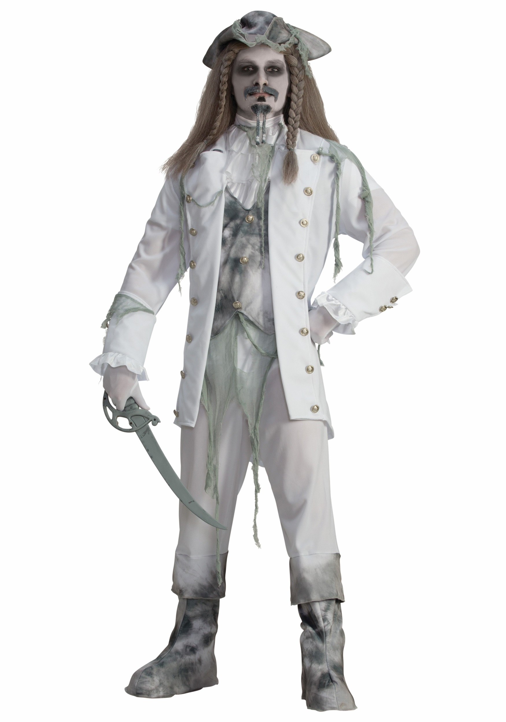 Mens Ghost Captain Pirate Costume