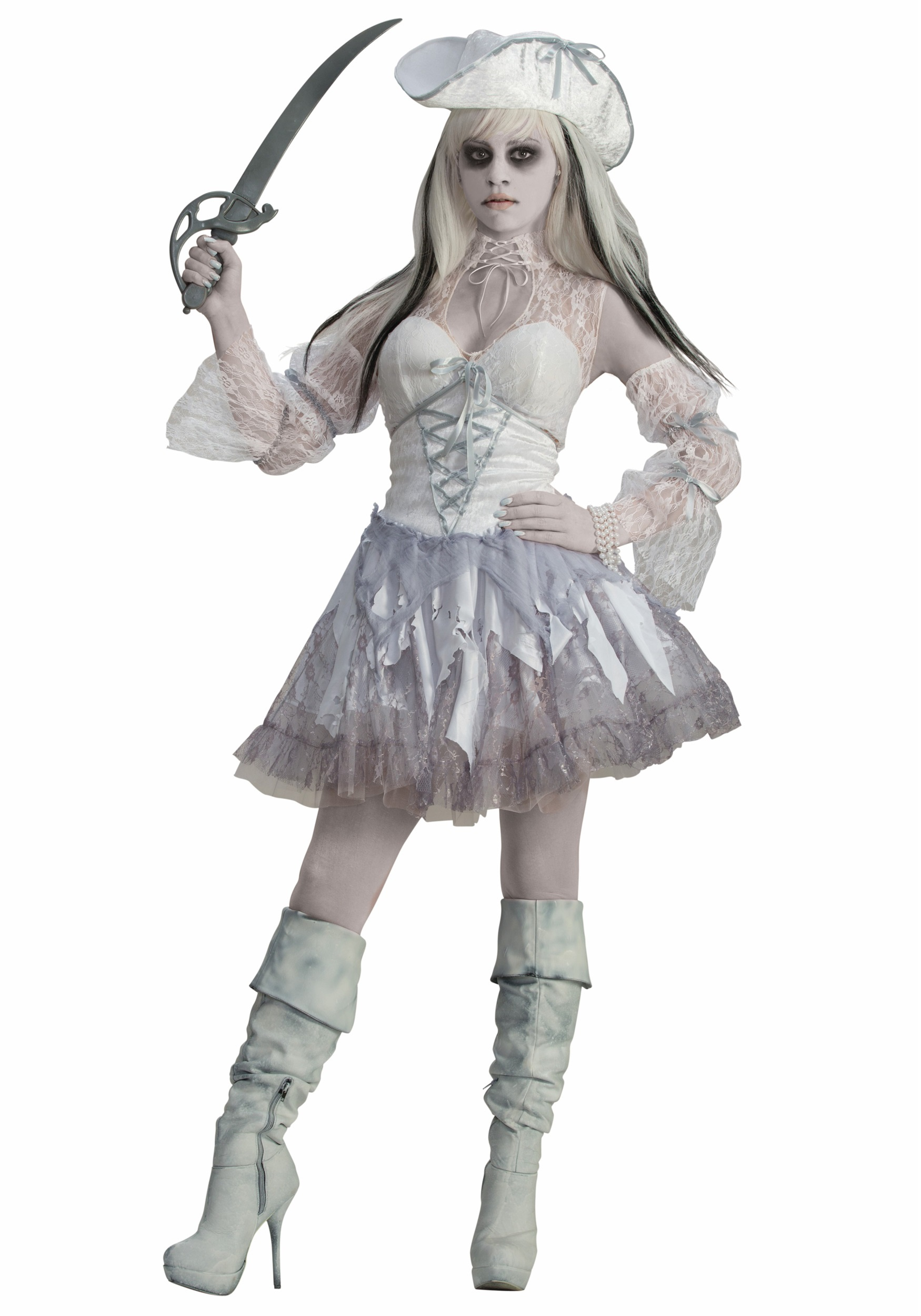 Womens Spirit of the Seas Ghost Pirate Costume  sc 1 st  Halloween Costumes & Womenu0027s Spirit of the Seas Ghost Pirate Costume