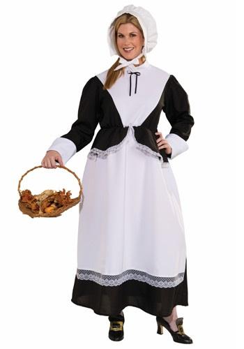 Plus Size Pilgrim Woman Costume for Adlults