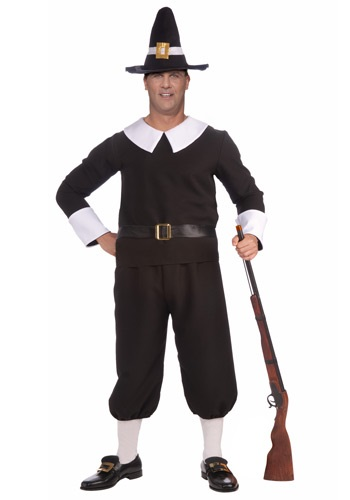 Plus Size Pilgrim Man Costume By: Forum Novelties, Inc for the 2015 Costume season.