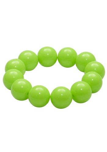 This 80's Green Gumball Bracelet