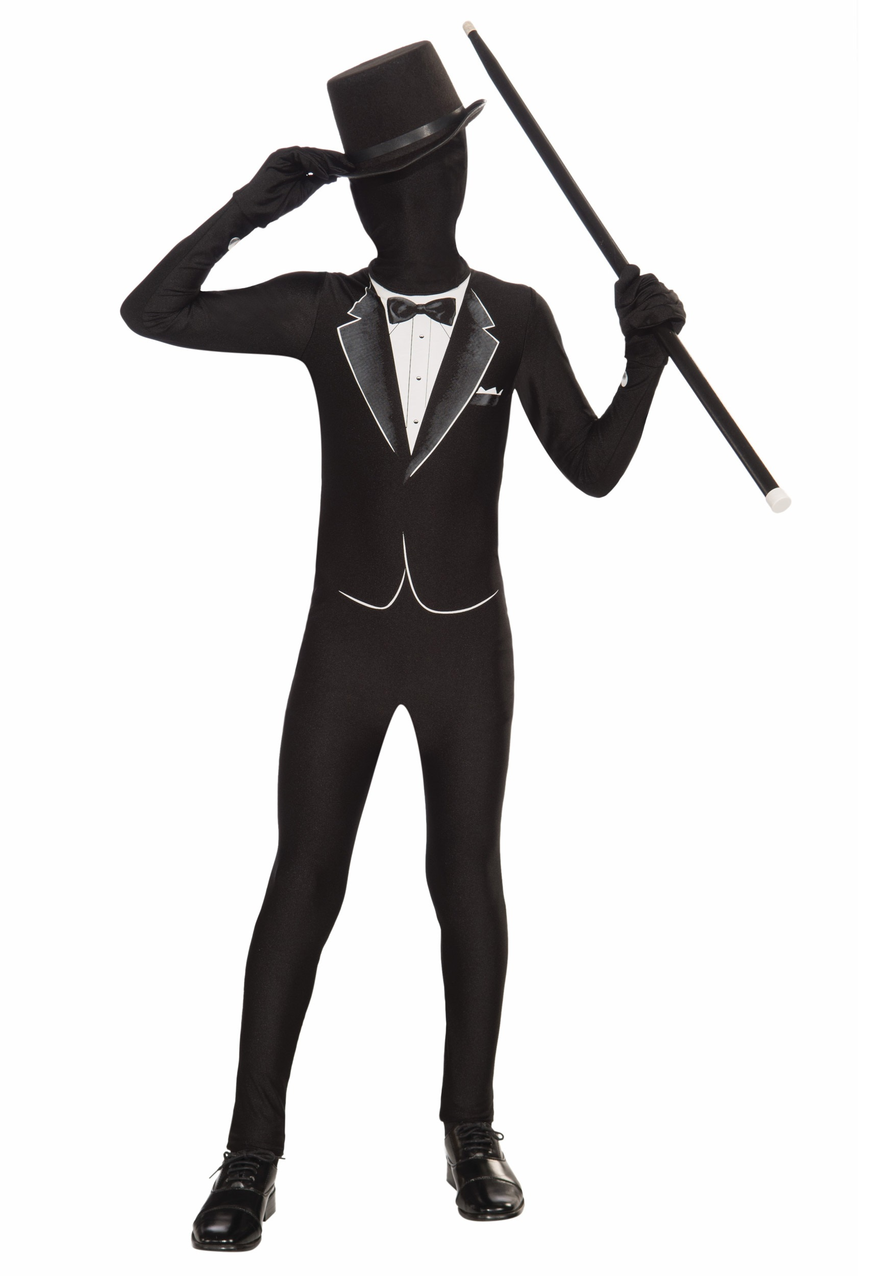 Formal Kids Tuxedo Skin Suit Costume