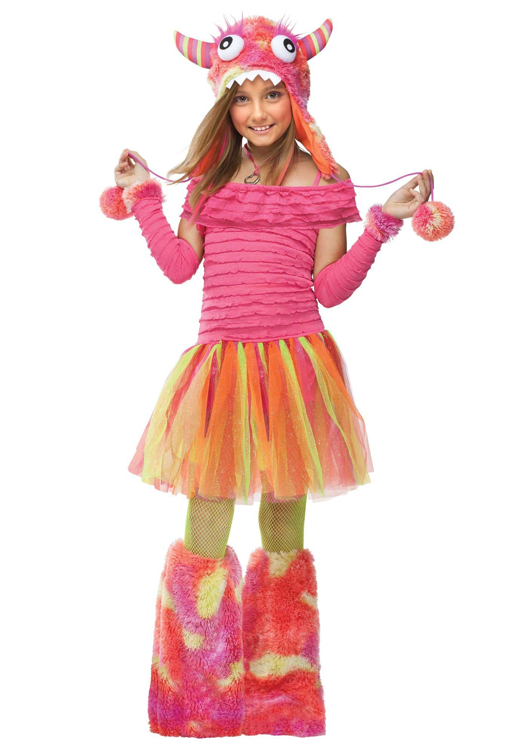 girls wild child monster costume