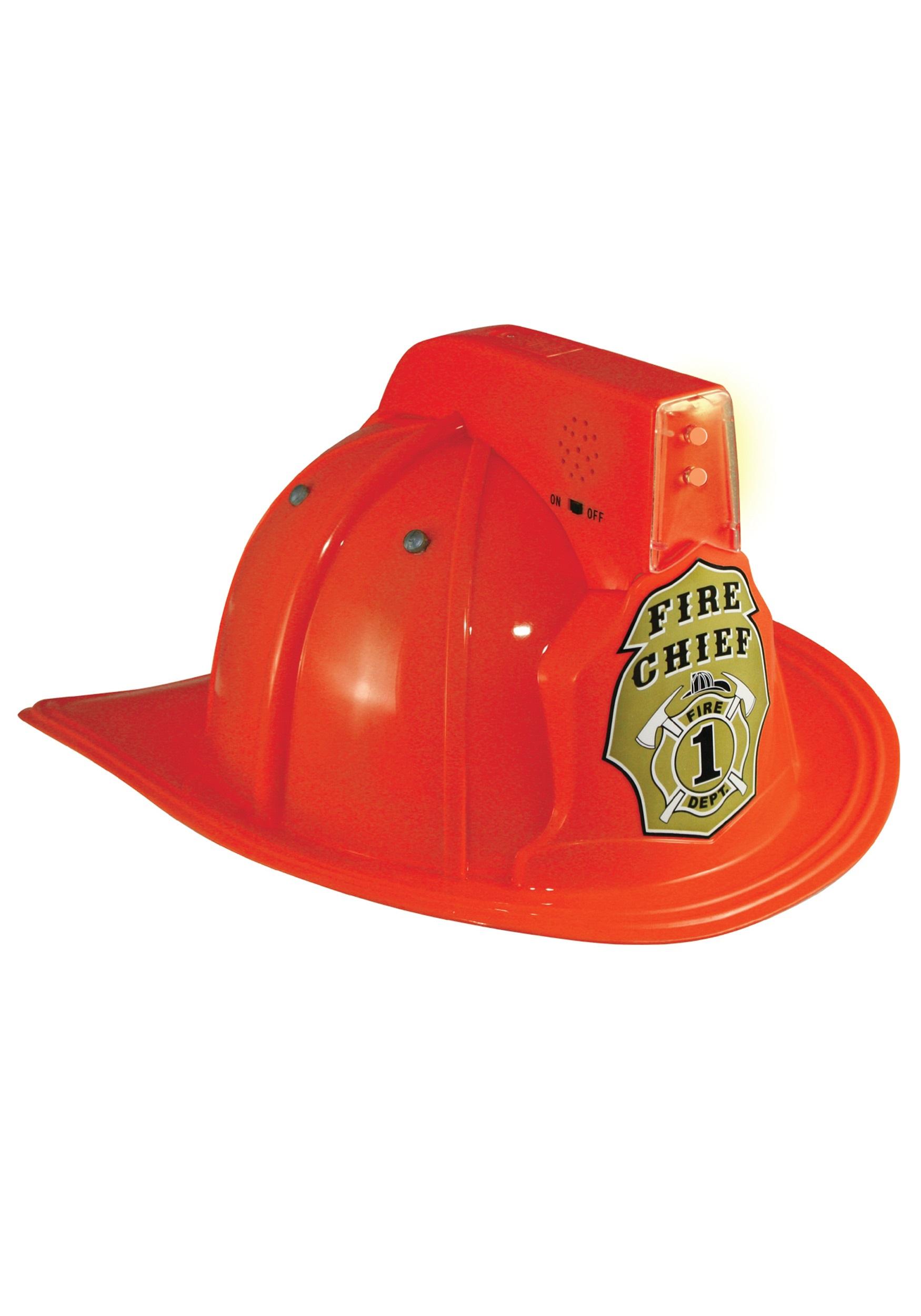 4d854269 Jr. Fire Chief Light Up Helmet