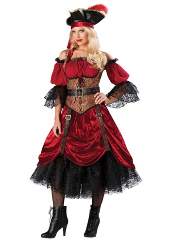 SWASHBUCKLIN' SCARLET COSTUME - Women's Edgy Halloween Costumes