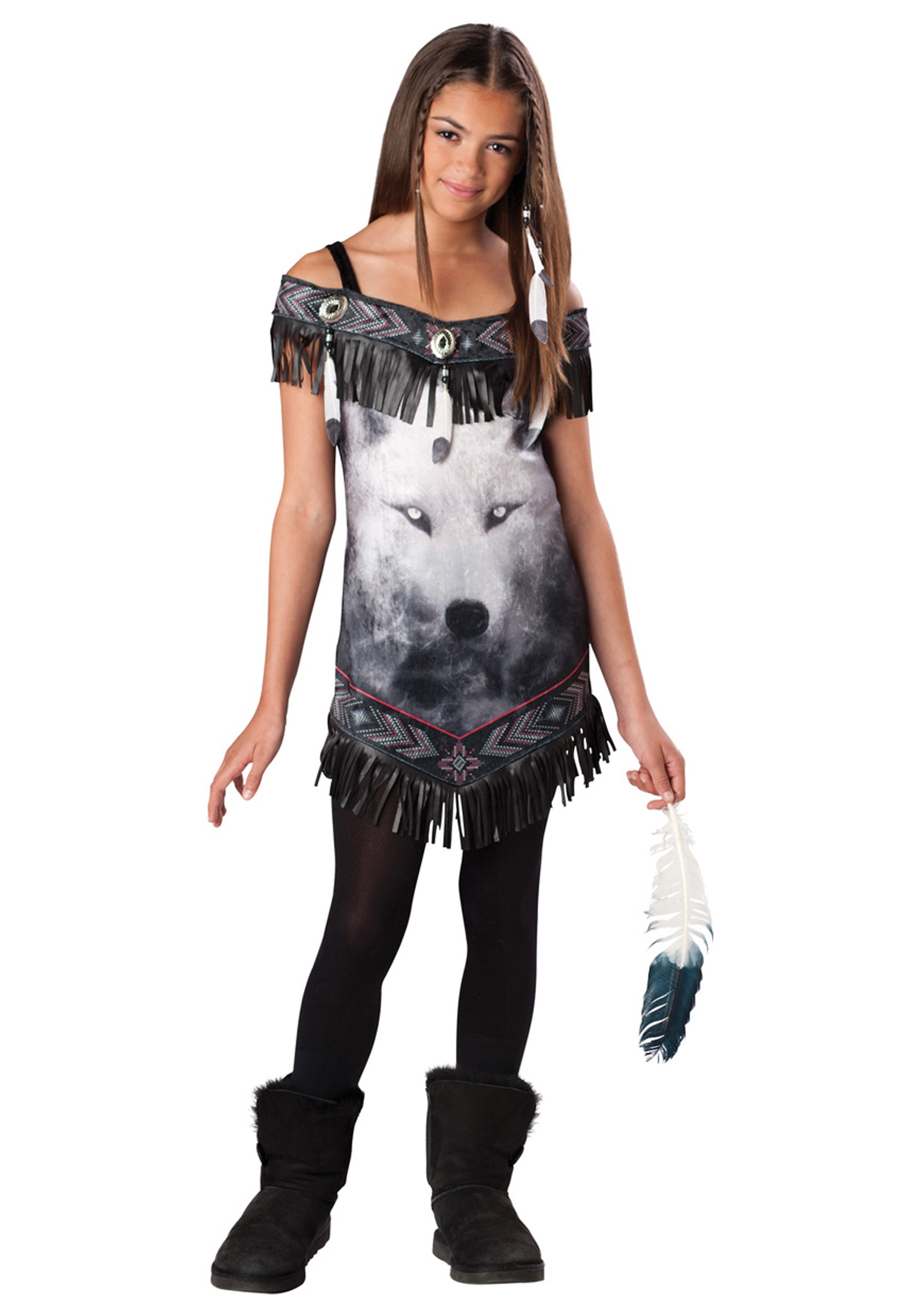 Tween Indian Tribal Spirit Costume  sc 1 st  Halloween Costumes & Tween Native American Tribal Spirit Costume