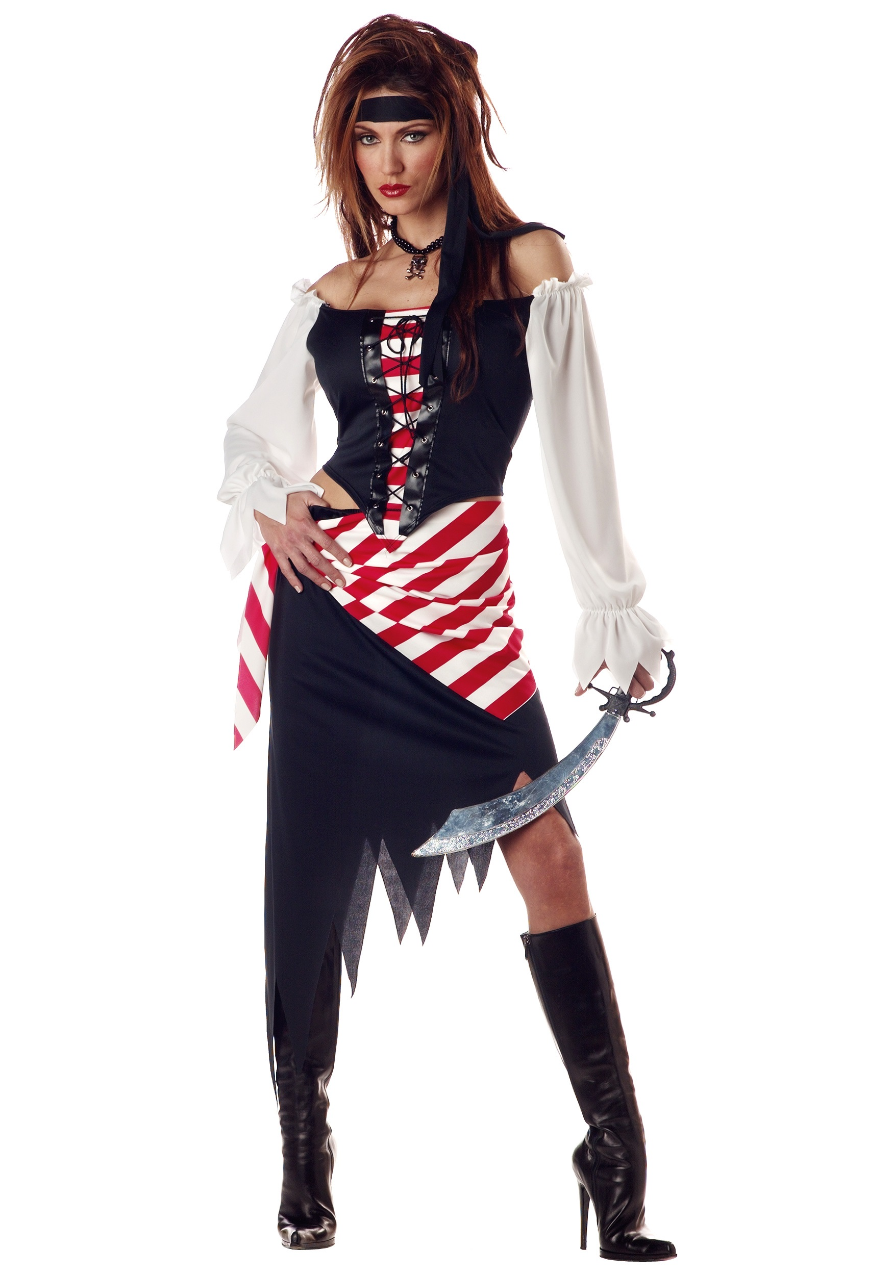 Adult ruby the pirate beauty costume ladies pirate costumes for Diy halloween costumes for adult women