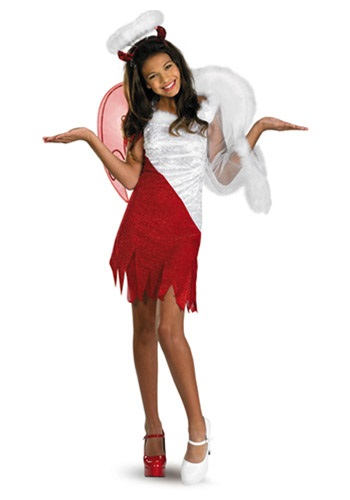 Click Here to buy Tween Heavenly Devil Costume from HalloweenCostumes, CDN Funds