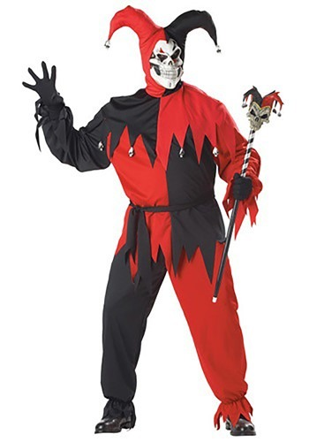 Click Here to buy Plus Size Evil Jester Costume from HalloweenCostumes, USA Funds & Shipping
