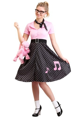 Click Here to buy Sock Hop Cutie Costume from HalloweenCostumes, USA Funds & Shipping