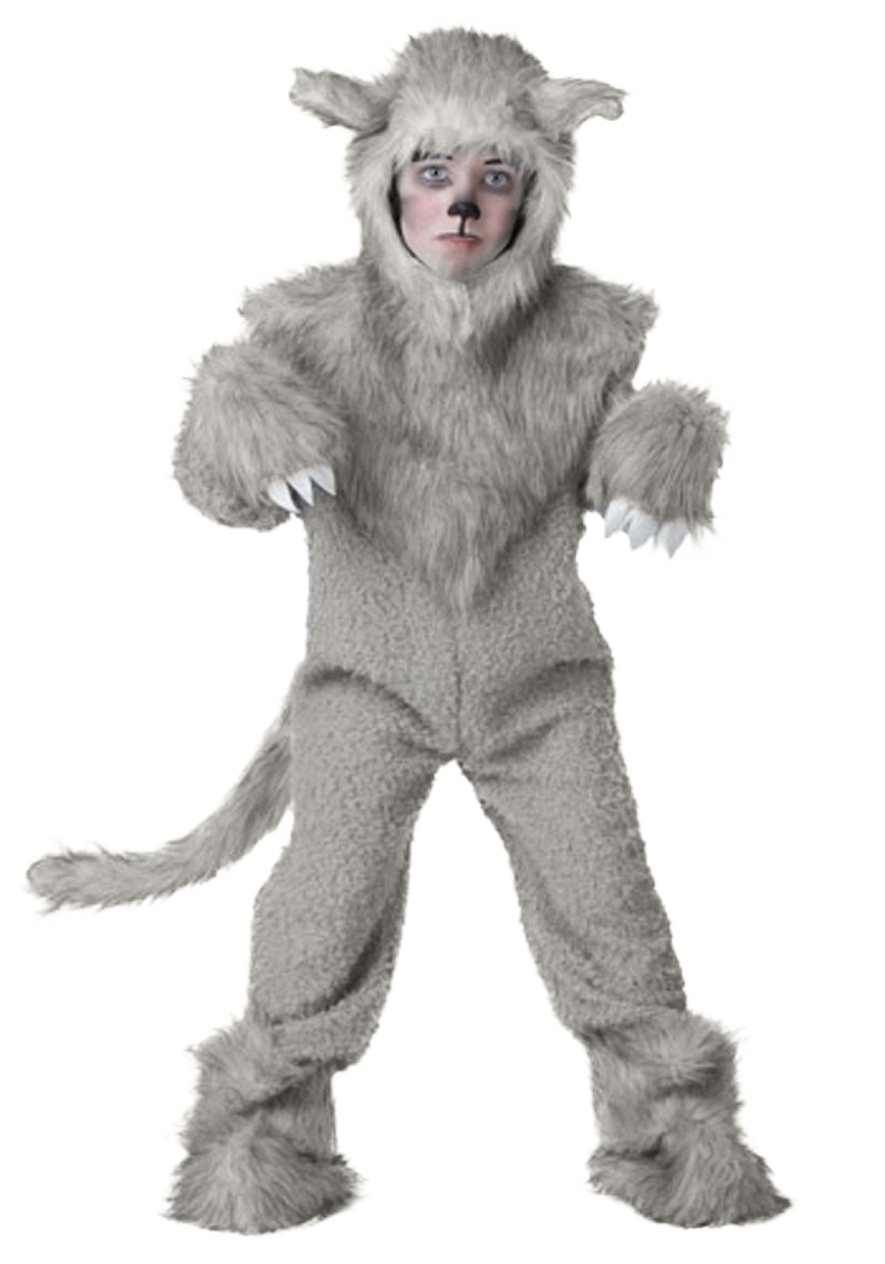 New Wolf Costume Big Head Adult Male Female Costume