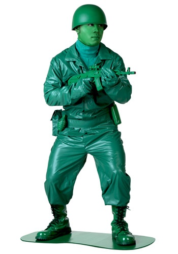 Click Here to buy Green Army Man Costume from HalloweenCostumes, USA Funds & Shipping
