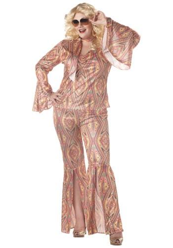 Plus Size Womens Disco Costume