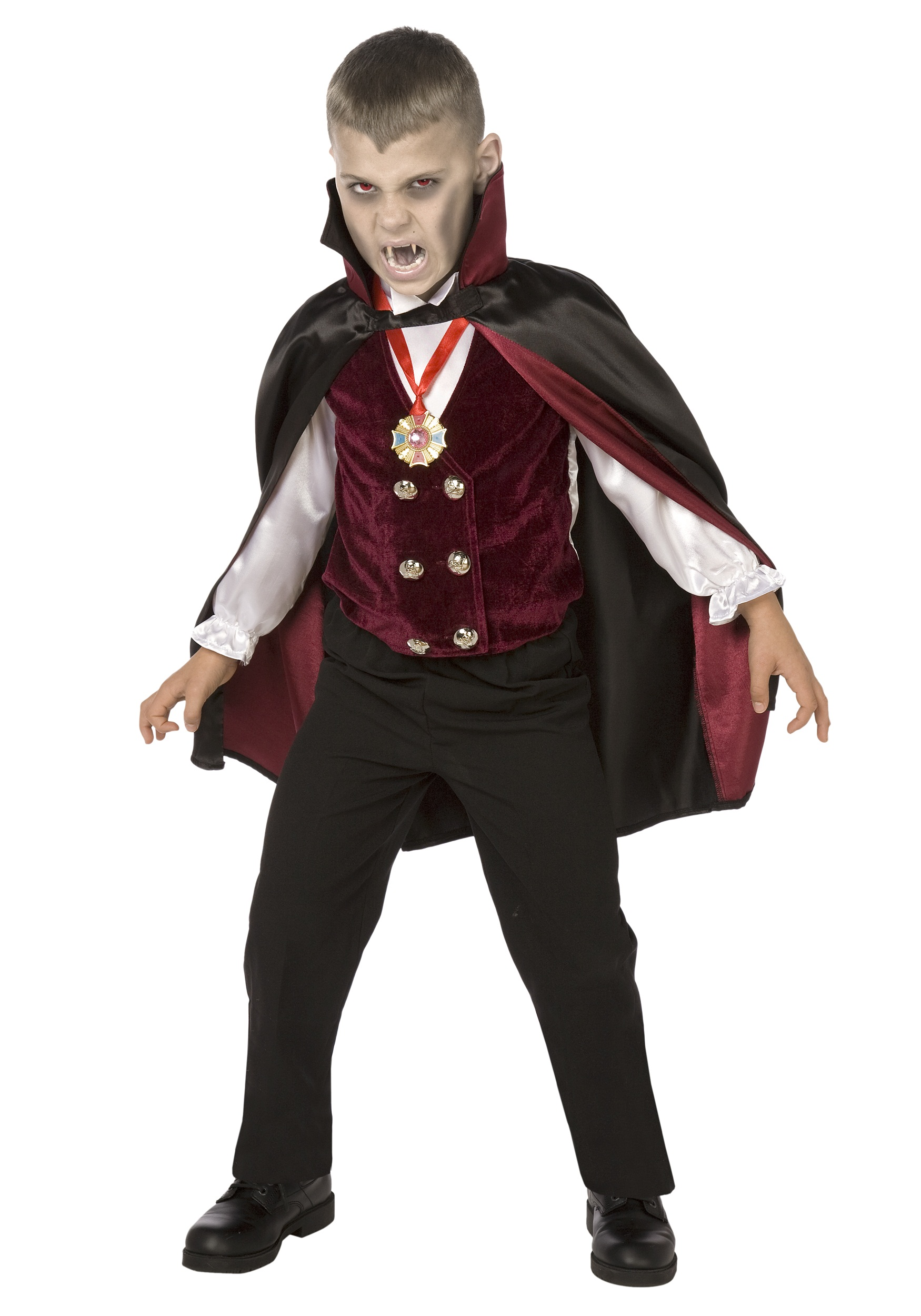 boy child deluxe vampire costume. Black Bedroom Furniture Sets. Home Design Ideas