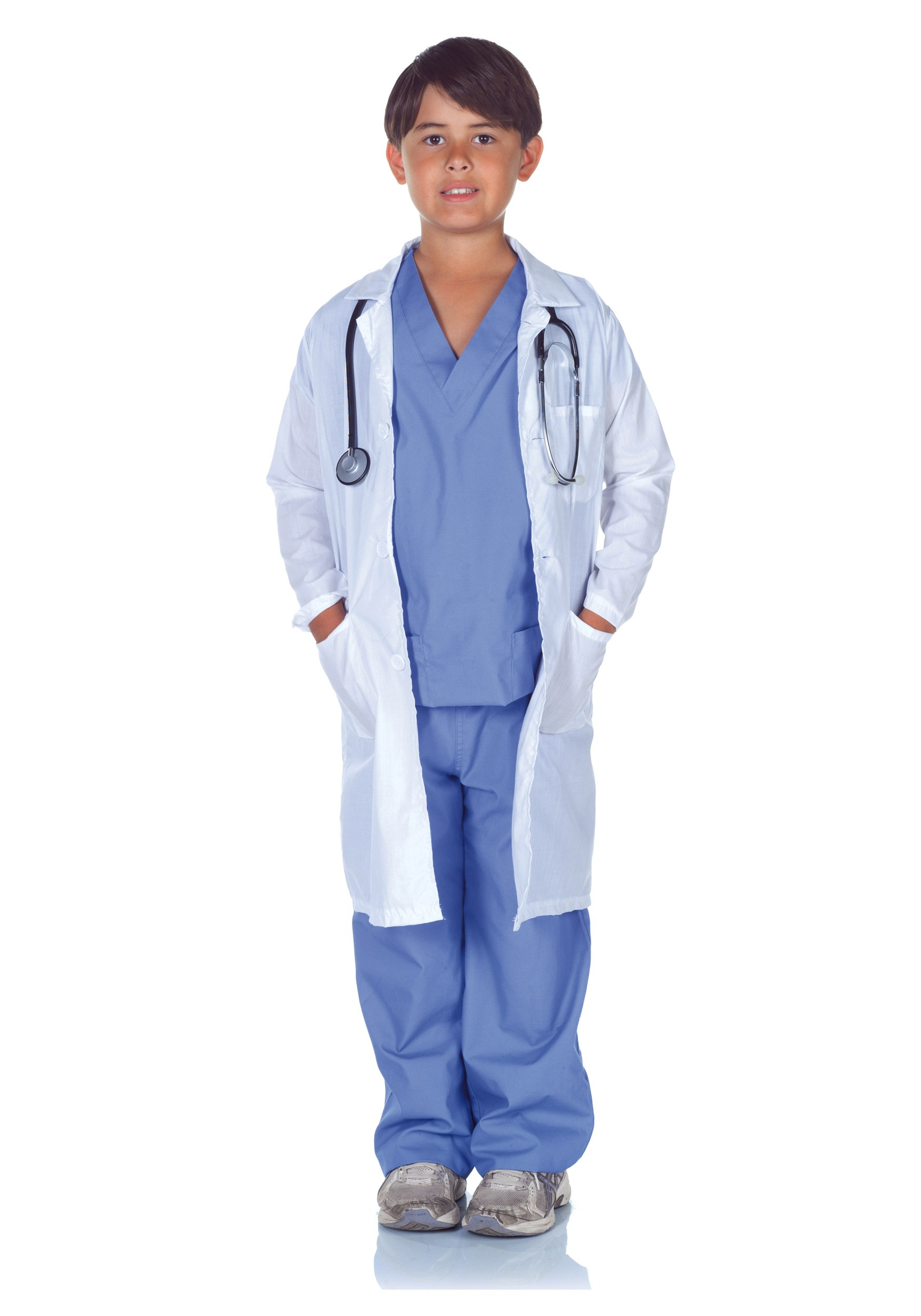 Child Doctor Scrubs with Labcoat  sc 1 st  Halloween Costumes & Child Doctor Scrubs with Lab Coat